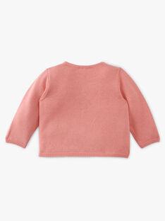 Cardigan fille coton pima couleur rose thé AGATHE 20 / 20VU1922N11D329