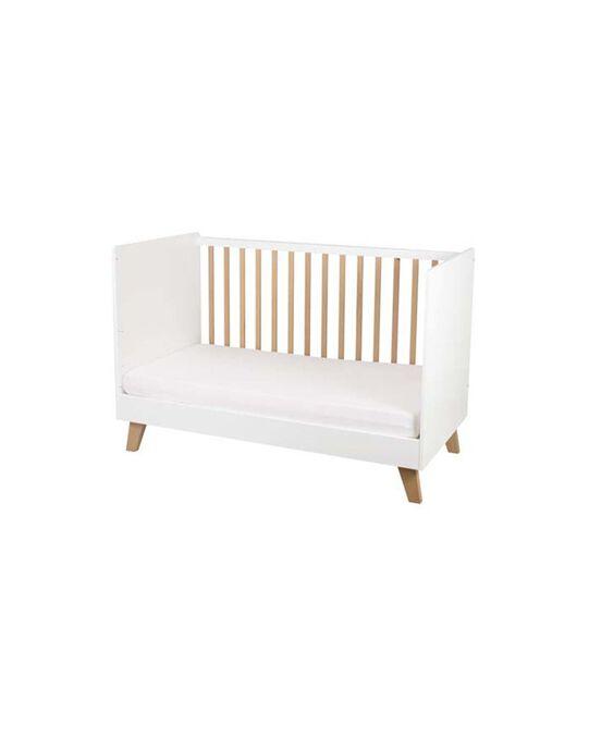 Lit bébé Céleste Natalys blanc 77x143x96 cm LIT CANOPEE / 18PCMB001LBB999