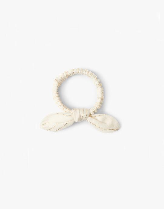 Chouchou fille rayé vanille et lurex doré  ARIA 20 / 20VU6014N95114