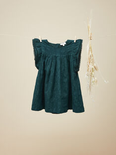 Robe manches courtes vert émeraude fille  VICKLY 19 / 19IU1934N18608