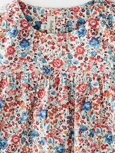 Blouse fille vanille en imprimé Liberty floral  BONNY 20 / 20IU1951N09099