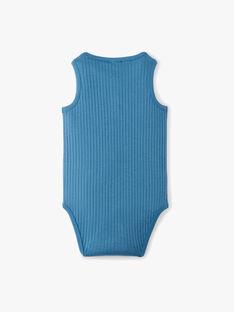 Body uni bleu natier sans manche en cête garçon ALESSIO 20 / 20VU2013N67201