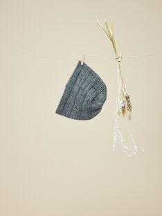 Bonnet en tricot gris chiné fille  VELCECILE 19 / 19IU6032N49J920