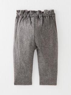 Pantalon fille en lainage gris et touche de lurex  BLANCHE 20 / 20IU1951N03J908