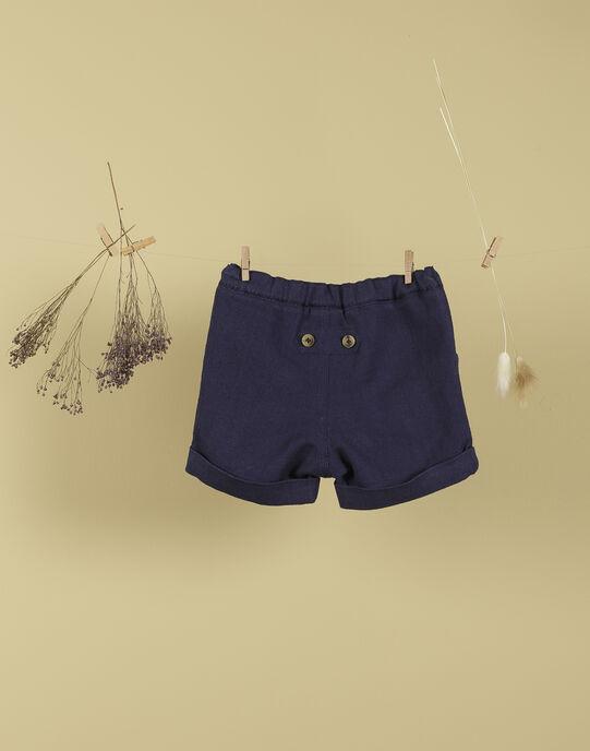 Short indigo garçon TENDJI 19 / 19VU2033N02703