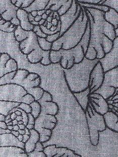Veste fille en chambray ouatiné et motif fleurs brodé  BENEDICTE 20 / 20IU1951N17P269