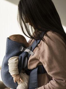 Porte-bébé Mini Carrier (0-1 an) en jersey bleu chiné PBB MINI BLUE / 19PBDP001PBBC218