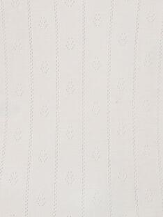 Body fille manches longues nude en ajouré fantaisie coton pima   DOUCETTE 21 / 21PV2212N2DD319