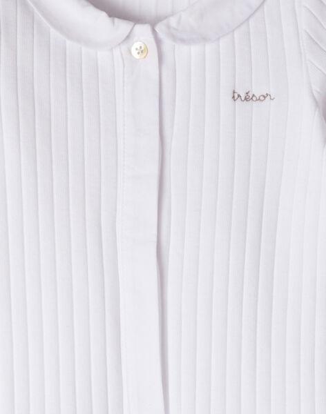 Grenouillère mixte en côte fantaisie blanc  ANOURS 20 / 20PV7612N31000
