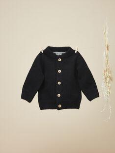 Gilet en tricot noir garçon  VENOISE 19 / 19IU2014N12090