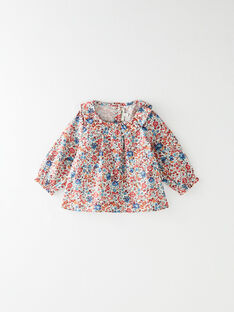 Blouse fille vanille à col en imprimé Liberty floral  BASTRID 20 / 20IV2251N09099