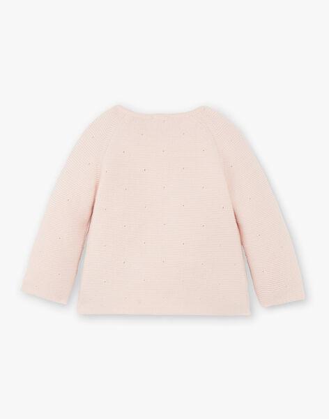 Brassière fille croisée tricot coton laine couleur nude   DAPHNEE 21 / 21PV2212N2A301