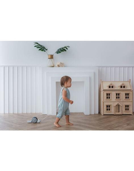 Jouet escargot à tirer Plan Toys pastel 11,2x26,5x9,5 cm dès 1 an ESCARGOT A TIRE / 19PJJO007JBO999