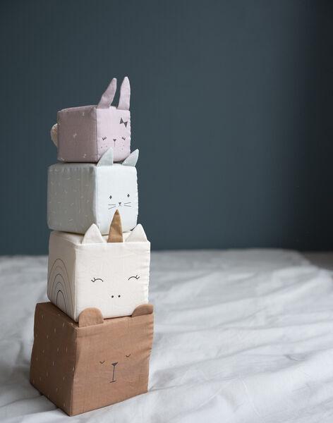 Cubes animaux coton bio Fabelab multicolores 43x13cm 6 mois-3 ans  CUBES ANIMAUX / 19PJJO018AJV999