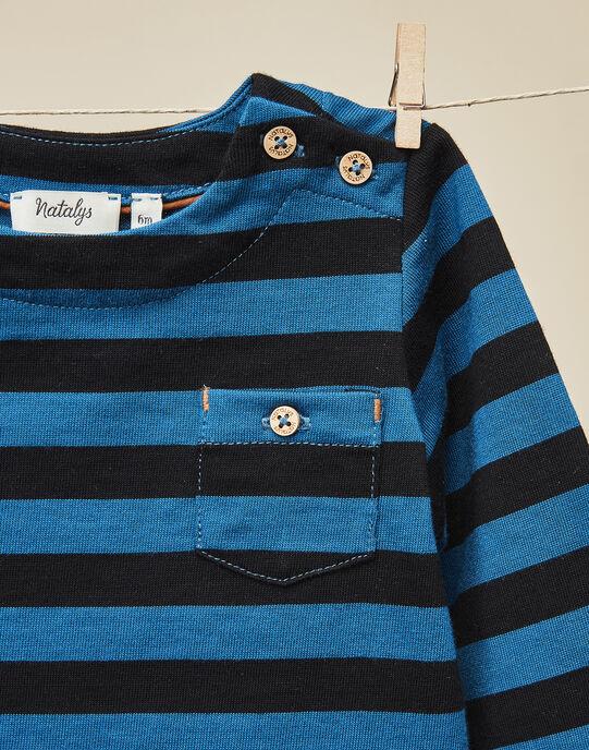 Tee-shirt manches longues rayés garçon  VENCESLAS 19 / 19IU2031N0F090