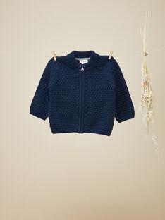 Gilet zippé en tricot fantaisie garçon VERMONT 19 / 19IU2012N12070