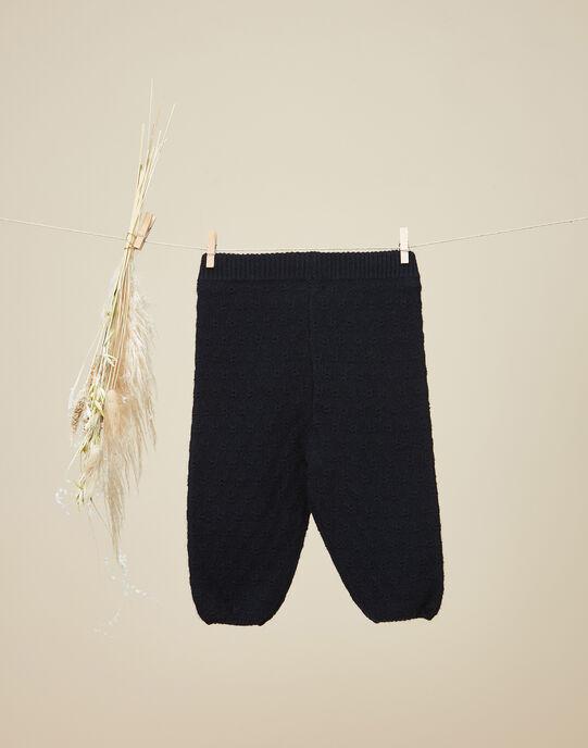Legging en tricot fantaisie noir fille   VENUS 19 / 19IU1911N3A090