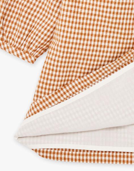 Robe longue brodée à carreaux femme DINALE 21 / 21IW2612N18114