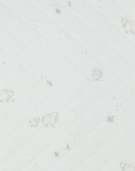Combinaison mixte vanille en coton pima imprimé moutons   DESIR 21 / 21PV2411N26114