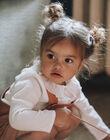 Blouse vanille en crêpe de coton fille CYLIA 21 / 21VU1913N09114