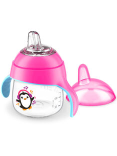 Tasse à bec anti-fuites pingouin 200 mL Philips Avent rose TAS BEC ROSE / 20PRR2003VAI030