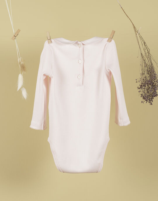 Body col claudine à manches longues rose tendre fille TUANA 19 / 19VV2271N29307