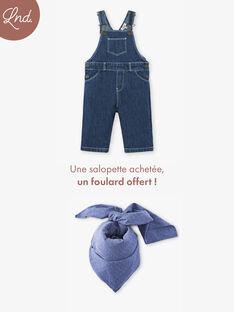 Salopette garçon longue en denim bleu  CORNEILLE 21 / 21VU2013N05P270