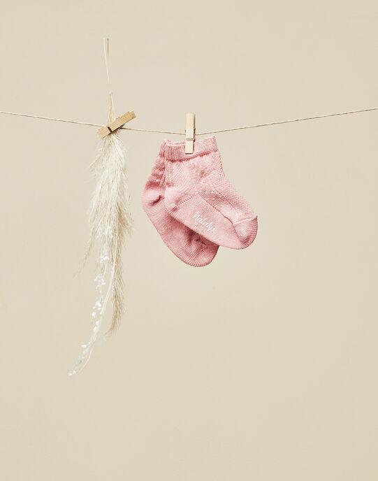 Chaussettes de naissance rose fille   VELINDY 19 / 19IV6811N47312