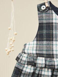 Robe chasuble en lainage à carreaux et fil lurex fille  VESNA 19 / 19IU1935N18099