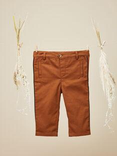 Pantalon en twill camel garçon  VERSAILLES 19 / 19IU2034N03804