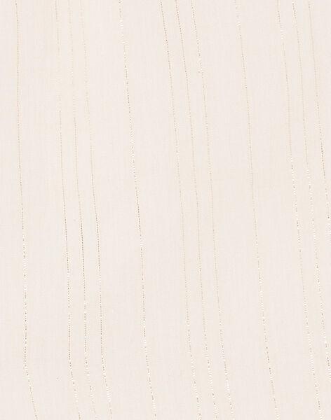 Blouse rose pâle à rayures Lurex® et coton fille CALISTAZE 21 / 21VU1923N09321