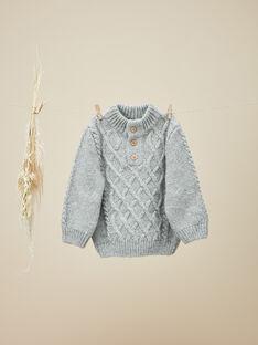 Pull en tricot gris chiné garçon   VIKRAM 19 / 19IU2031N13943