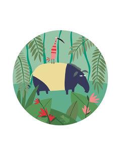 Assiette Jungle Petit Jour multicolore dès 4 mois ASSIETTE JUNGLE / 14PRR2018VAI999