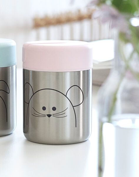 Thermos bébé souris Little Chums Lässig rose & gris 315 mL THERMOS SOURIS / 19PRR2026VAI030