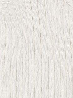 Gilet naturel chiné en coton cachemire CASPER 21 / 21VV2311N12A010