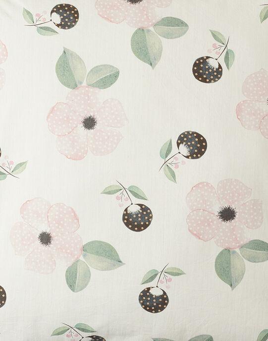 Housse de coussin  vanille imprimé fleurs fille 40x40 cm  AORANE-EL / PTXQ6211N87114