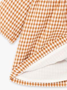 Robe brodée vichy DINA 468 21 / 21I129116N18804
