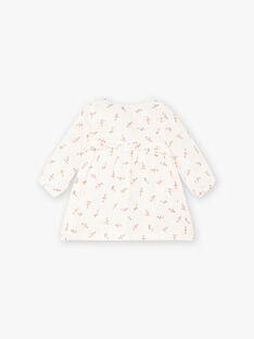 Robe manches longues blanc imprimé fleuri bébé fille DOMITILLE 21 / 21IU1914N18A015