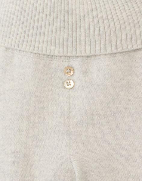 Pantalon à pieds mixte gris chiné en laine mérinos AXELIS 20 / 20PV2411N3A803