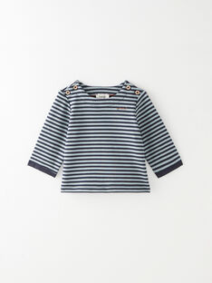 Tee shirt rayé marine manche longue garçon  BRADY 20 / 20IV2352N0F070