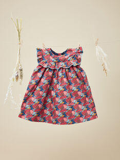 Robe chasuble avec bloomer en Liberty fille  VELIDIANE 19 / 19IU1912N18099