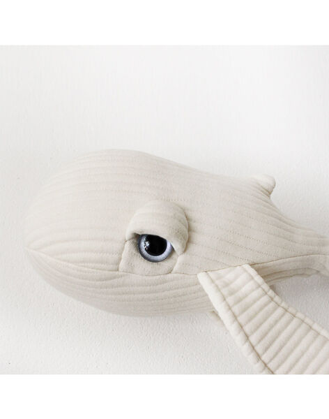 Peluche Baleine mini Sir 30 cm BigStuffed blanche dès la naissance MIN SIR BALEINE / 19PJPE013MPE999