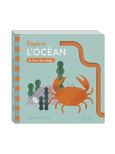 """Livre """"Explore l'océan du bout des doigts"""" Kimane multicolore 19x19x1,2 cm dès 2 ans EXPLORE L OCEAN / 19PJME005LIB999"""