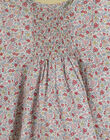 Robe manches courtes en liberty bleu pervenche fille TONILY 19 / 19VU1912N18221