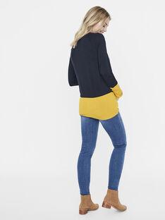 Pull de grossesse & allaitement Mamalicious noir & jaune MLLIRA LIA PULL / 19IW2662N13090