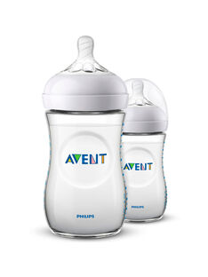 2 Biberons Natural 2.0 260ml Philips Avent BIB NAT 260 X2 / 20PRR1007BIB999