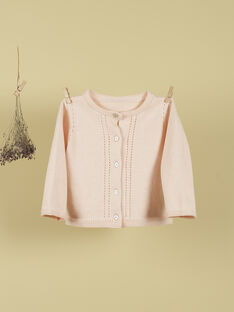 Cardigan rose blush fille TIANA 19 / 19VU1921N11D300