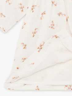 Robe manches longues blanc imprimé fleuri naissance fille DONE 21 / 21IV2211N18A015