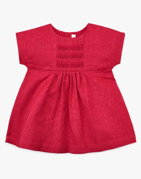 Robe manches courtes et bloomer fille rose framboise  APRILE 20 / 20VU1916N18308