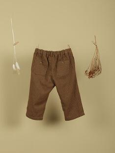 Pantalon caramel rayures garçon TIBATO 19 / 19VU2023N03420